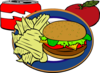 Hamburguer Drink Chips Aple Clip Art