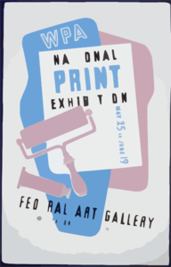 Wpa National Print Exhibition, Federal Art Gallery Clip Art