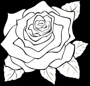 Uncoloured Rose Clip Art at Clker.com - vector clip art online, royalty free & public domain
