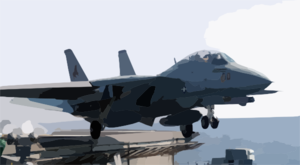An F-14d  Tomcat  Assigned To The Black Lions Of Fighter Squadron (vf-213) Launches From The Flight Deck Clip Art