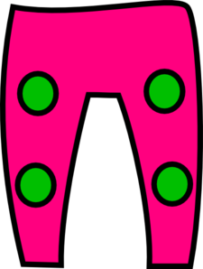 Green Pink Trousers Clip Art