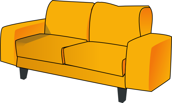 Couch clip art at vector clip art online for Sofa clipart