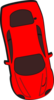 Red Car - Top View - 280 Clip Art