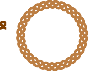 Brown Circle Frame Braid Clip Art