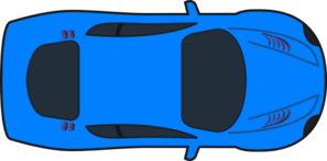Light Blue Car - Top View Clip Art