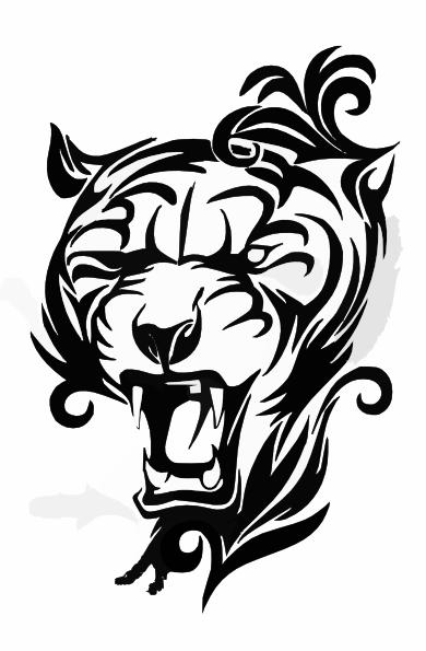 tiger head clip art at clker com vector clip art online tiger head clip art black and white tiger head clipart free