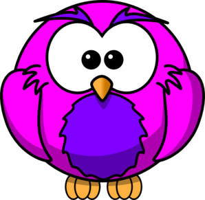 Pink And Purple Hoot Clip Art
