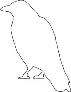 Crow Outline Clip Art