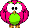 Magenta And Lime Hoot Clip Art