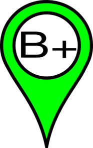 Green Pin B+ Clip Art