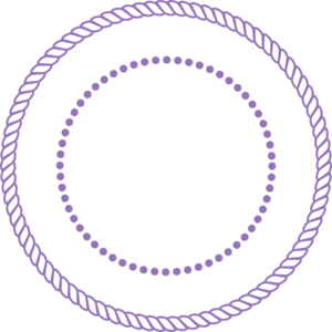 Purple Rope Frame Clip Art