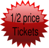 1/2 Price Tickets Clip Art
