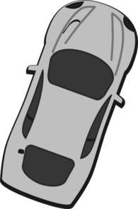 Gray Car - Top View - 70 Clip Art