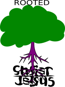 Rooted  Christ Clip Art