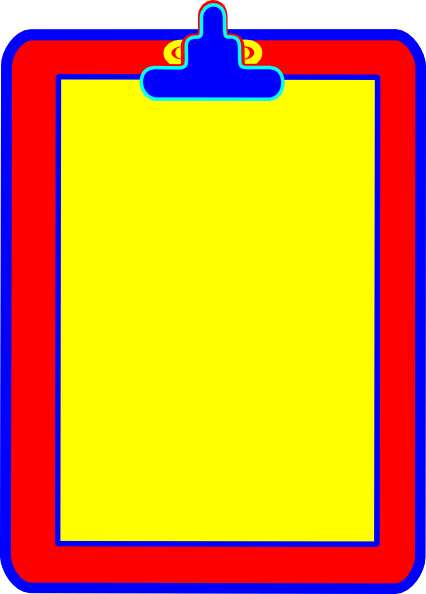 yellow  red  blue clipboard clip art at clker com