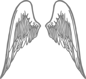 Angel Wings Grey Clip Art