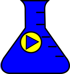 Flask Erlenmeyer Start Blue Clip Art