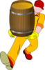 Man Carrying Barrel Clip Art