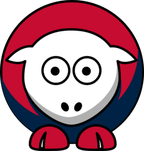 Sheep Boston Red Sox Team Colors Clip Art