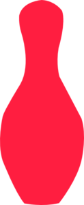 Red Bowling Pin Clip Art