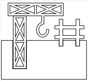 Industrial Work Outline Clip Art