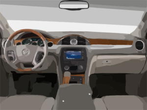 Buick Enclave From Interior View Picture Clip Art