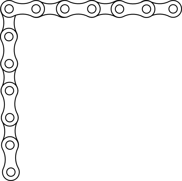 bike chain border 2 clip art at vector clip art online royalty free public domain. Black Bedroom Furniture Sets. Home Design Ideas