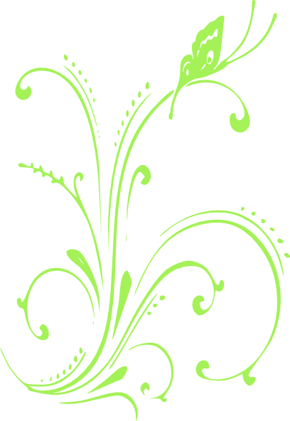 Green Butterfly Scroll Clip Art at Clker.com - vector clip ...