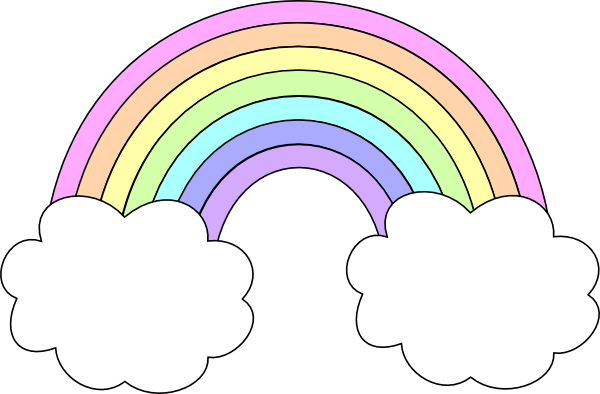 Pastel Rainbow Clip Art at Clker.com - vector clip art ...