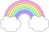Pastel Rainbow Clip Art at Clker.com - vector clip art ...