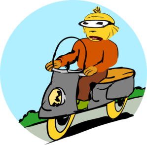 Scooter Driver Clip Art