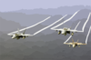 F/a-18a Hornets Fly Over The Western Pacific Ocean During Flight Operations. Clip Art
