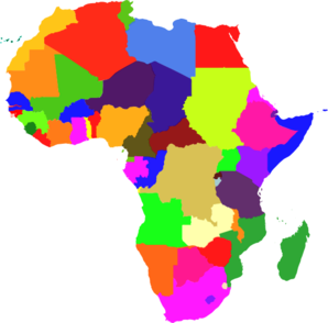Africa Color Clip Art