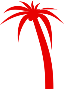 Dark Red Palm Tree Clip Art