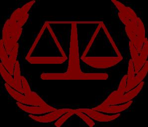justice scale maroon clip art at clkercom vector clip