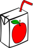Apple Juice Carton  Clip Art