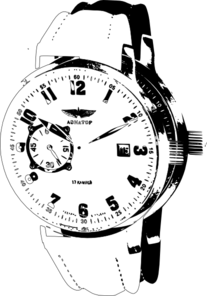 Wrist Watch 3 Clip Art