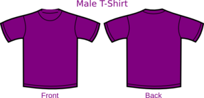 Purple Uitm Shirt Clip Art