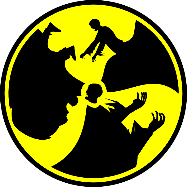 Zombie Radioactive Symbol Clip Art at Clker.com - vector ...