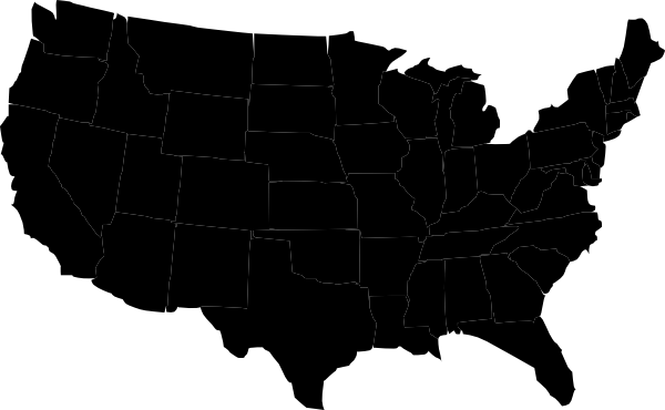 clip art map united states - photo #49