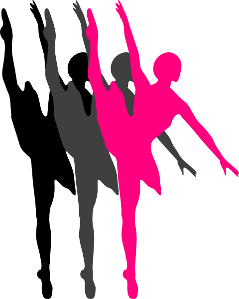 Triple Ballet Dancer Silhouette Clip Art at Clker.com ...