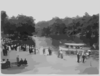 Bronx Lake From New York Zoological Park, 183 D. St. And Southern Blvd., New York City: Boat Landing Clip Art