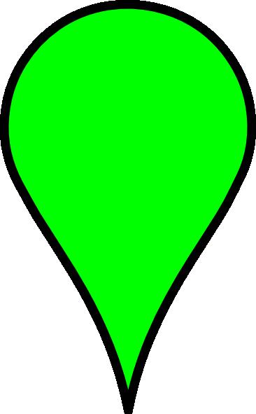 google maps icon green clip art at clkercom vector