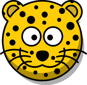 Leopard Head Without Tail Clip Art
