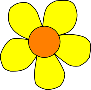Orange And Yellow Flower Nonshaded Clip Art