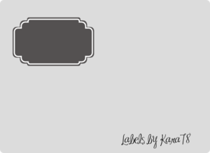 Grey Wedding Label Clip Art