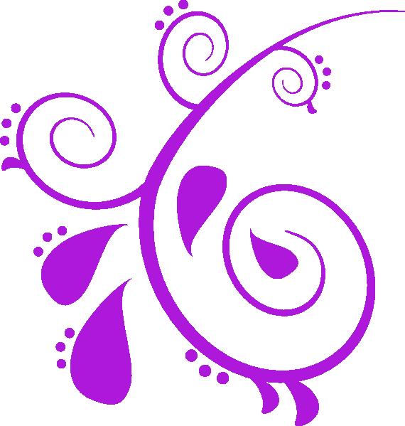Purple Butterfly Scroll Clip Art At Clker Com: Purple Paisley Clip Art At Clker.com