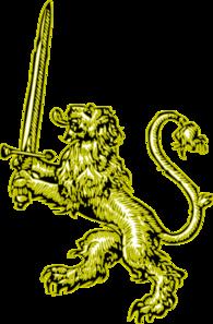 Gold Lion With Sword Clip Art at Clker.com - vector clip ...