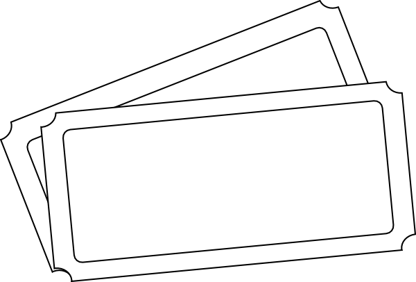 Ticket Template Clip Art at Clker vector clip art online – Ticket Outline