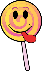 Lollipop Smiley Clip Art